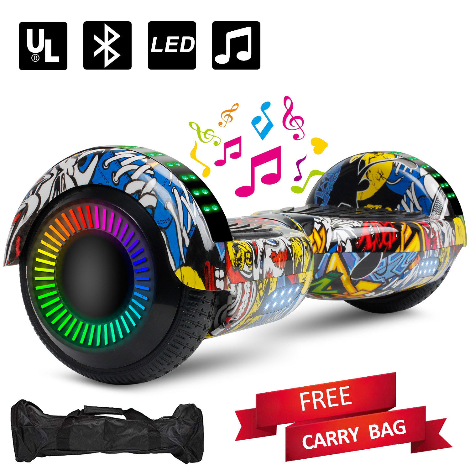 6.5 Bluetooth Speaker LED Hoverboard Electric Self Balancing