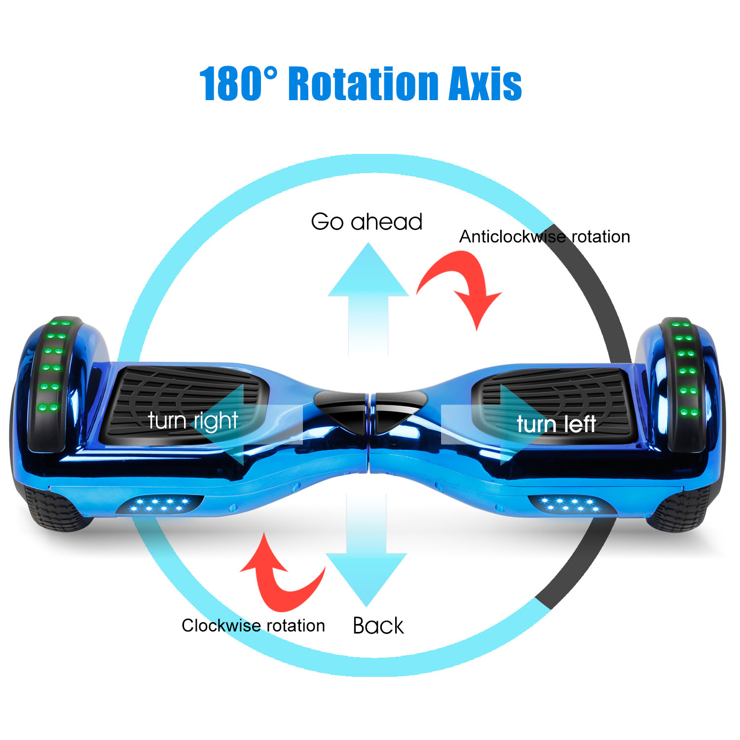 """6.5"""" Hoverboard Bluetooth Electric Balance Scooter with Bag UL2272 Certified 2"""
