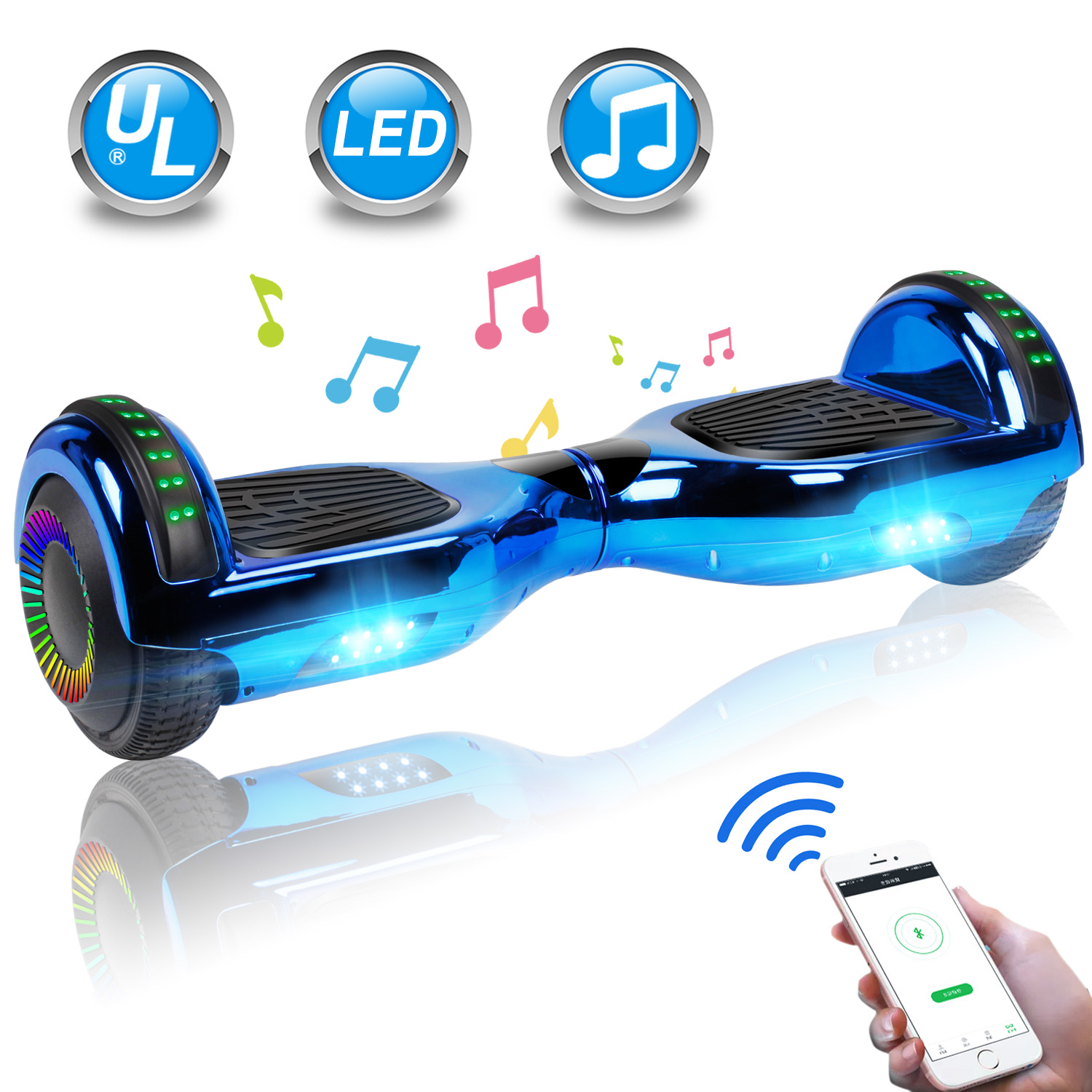 """6.5"""" Hoverboard Bluetooth Electric Balance Scooter with Bag UL2272 Certified 3"""