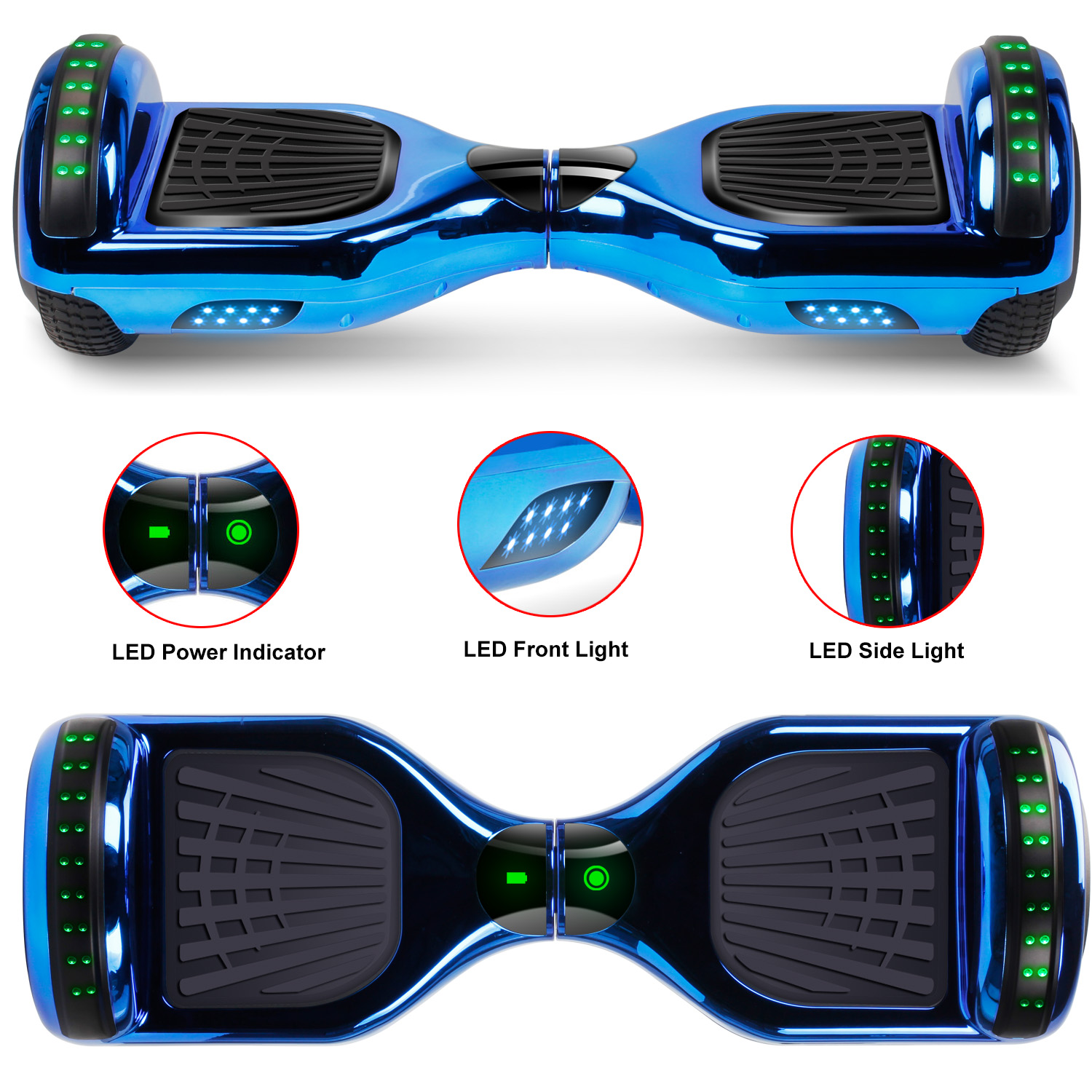 """6.5"""" Hoverboard Bluetooth Electric Balance Scooter with Bag UL2272 Certified 6"""