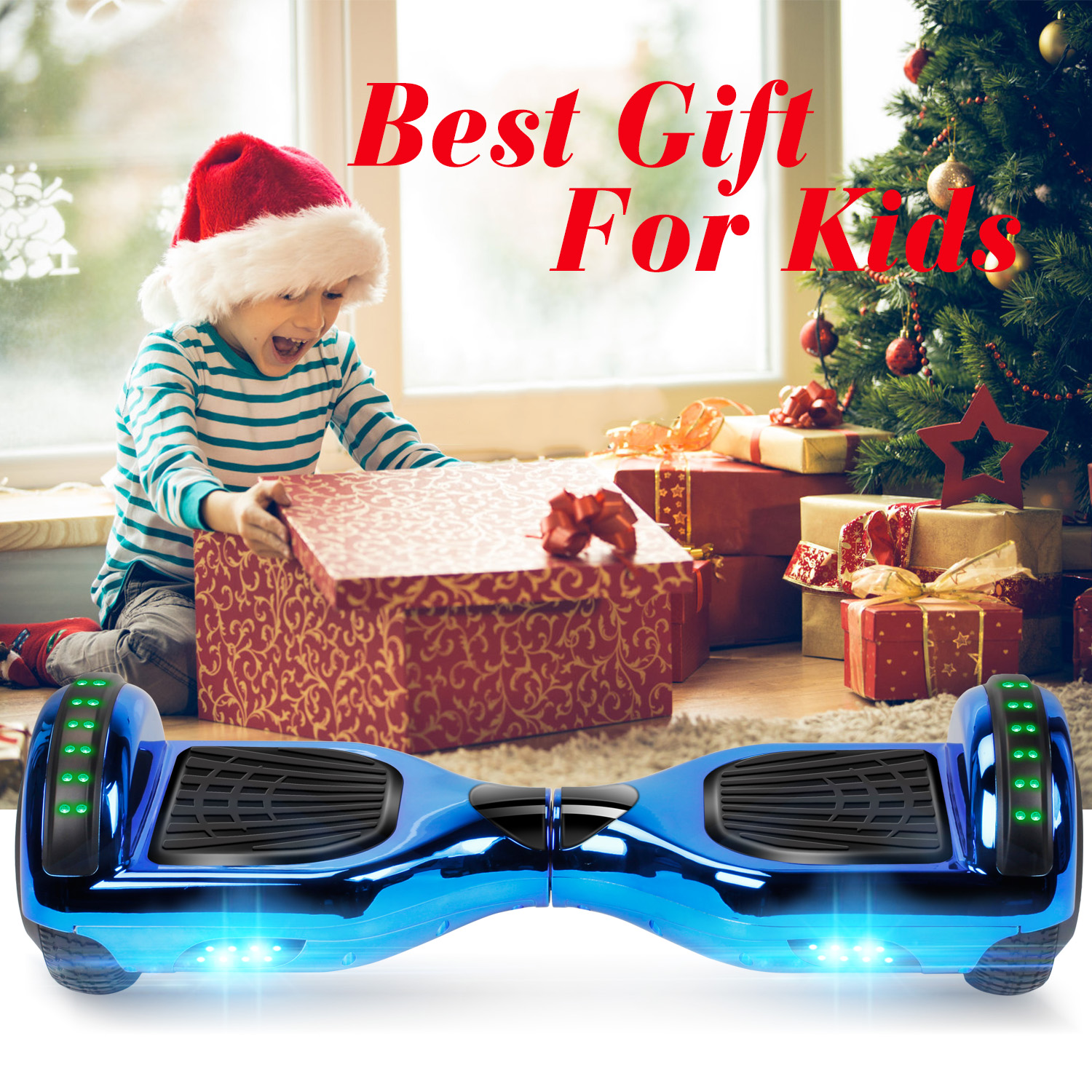 """6.5"""" Hoverboard Bluetooth Electric Balance Scooter with Bag UL2272 Certified 10"""