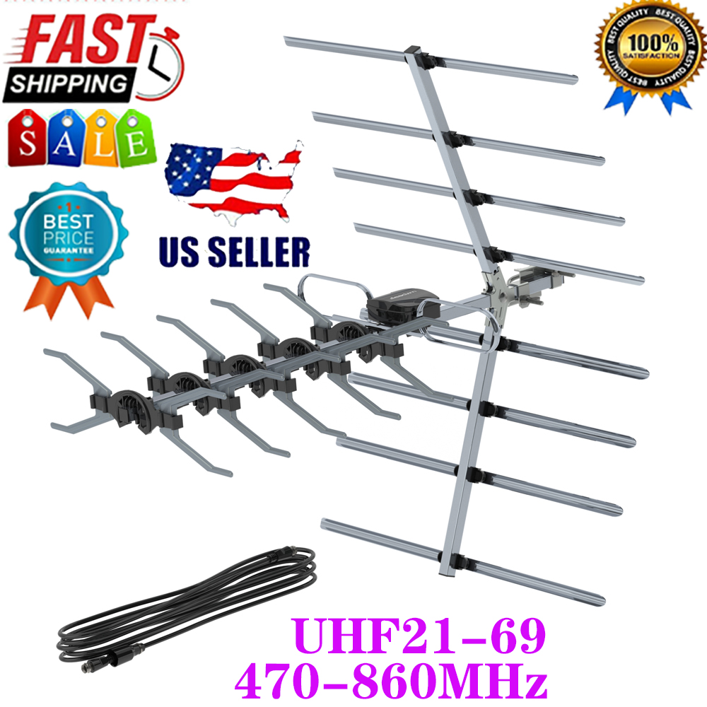 Leadzm Frequency 470-860MHz 10m 3C2V Double-head Black Wire Outdoor Antenna USA. Available Now for 23.89