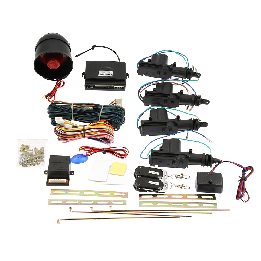 Car Alarm Keyless Entry Security Lock Actuator Siren Kit 4 Door Wiring Diagram Power Remote 6954333781300 Ebay