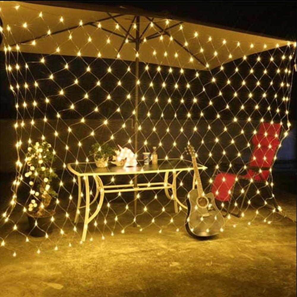 Led Net Mesh Fairy String Light Garland Window Christmas Wedding Party Decor Diy Ebay