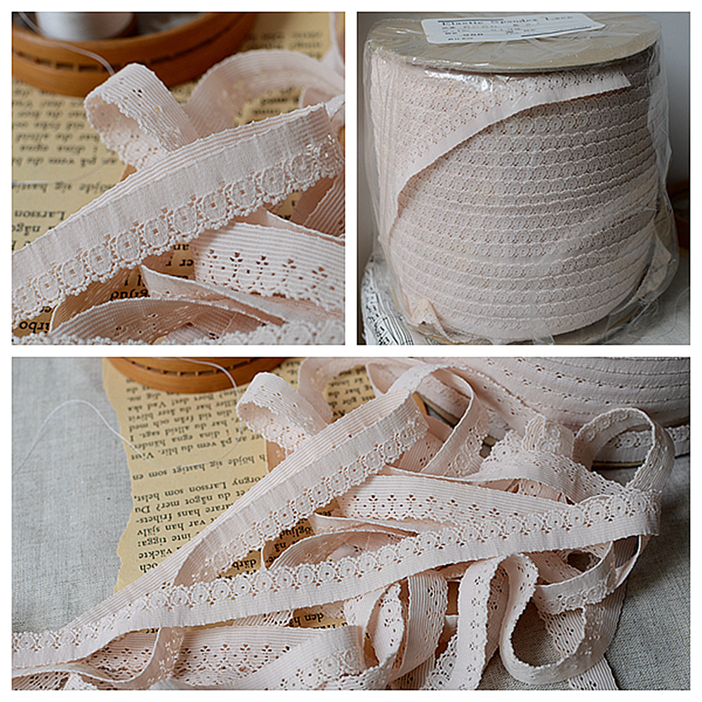 5 Yards Elastic Lace Band Flower Embroidered Trim Ribbon Underwear Sewing Edge