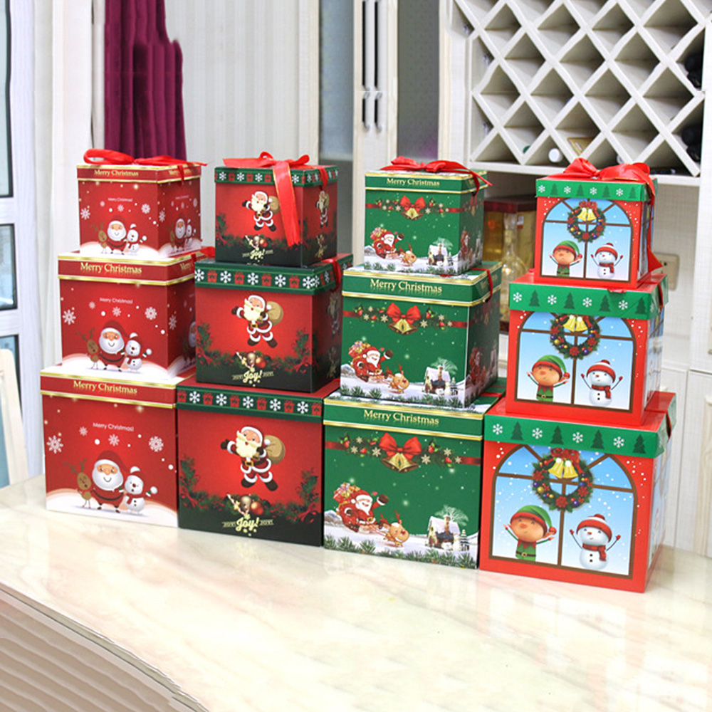 Christmas Candy Ball Tin Gift Box Storage Can Jar Container Xmas Tree Ornament