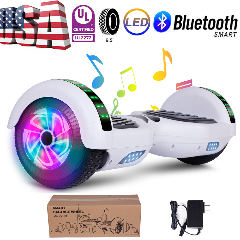 "6.5"" Bluetooth Hoover Board Electric Balancing Scooter White"