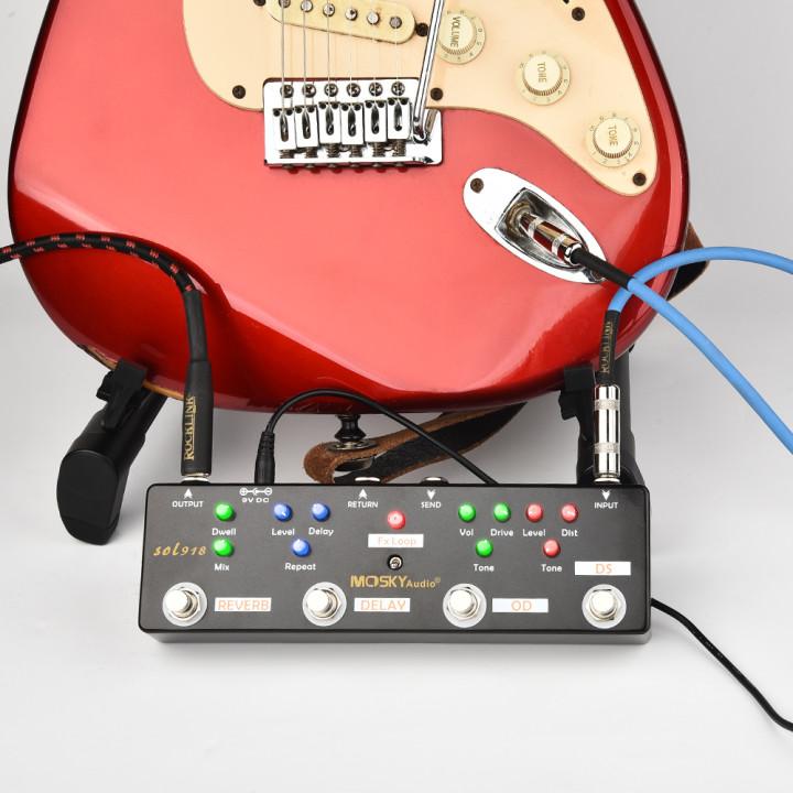 thumbnail 15 - MOSKY Guitar Multi Effect Pedal Reverb Delay Looper Overdrive Distortion Chorus