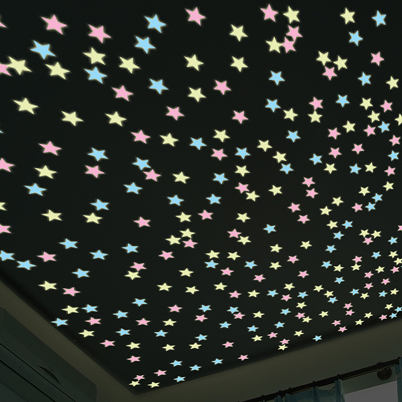 Ceiling Wall Stickers Fluorescent Decor