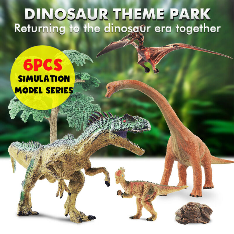 12Pcs//Set Lot Assorted Dinosaurs Toys Decor Figures Plastic Study Party Bulk