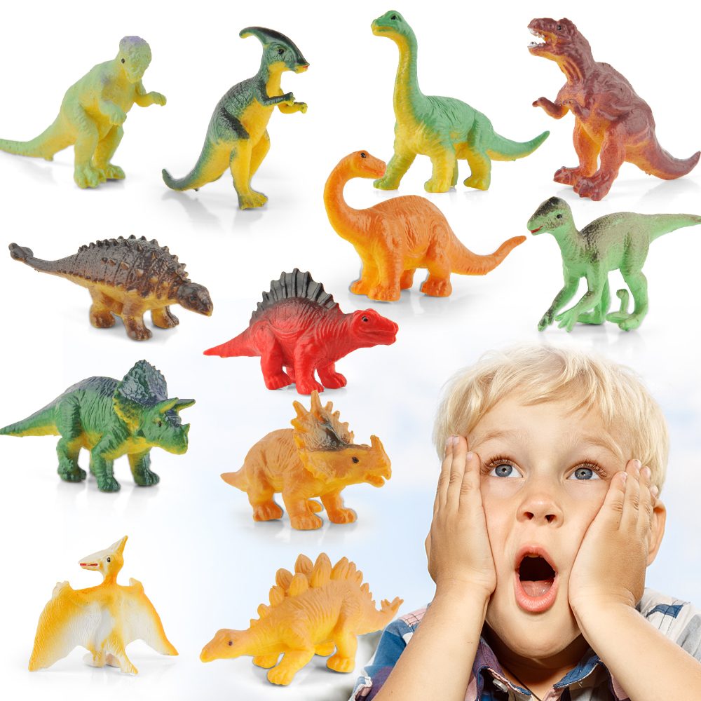 12 Pack réaliste dinosaures Figurines Toys Assorted Dinosaur Figures Avec Multi ST