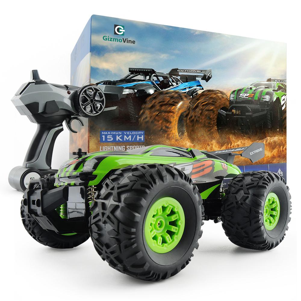 Large Remote Control Rc Car Kids Monster Truck Big Wheel Electric Toy 2 4 Ghz 6v Ebay