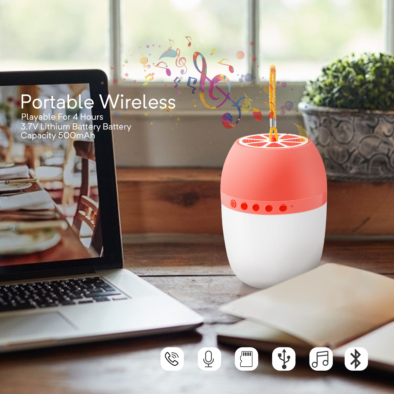 LED-TWS-Bluetooth-5-0-LED-Portable-Bluetooth-Speaker-Wireless-Bass-Speaker-W-TF miniature 16