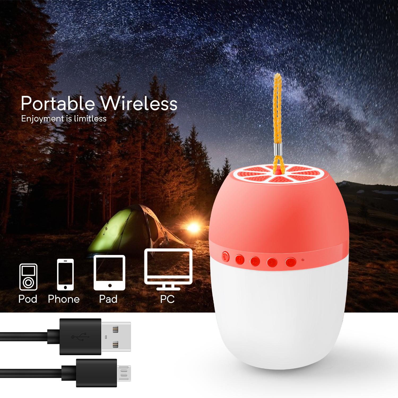 LED-TWS-Bluetooth-5-0-LED-Portable-Bluetooth-Speaker-Wireless-Bass-Speaker-W-TF miniature 17
