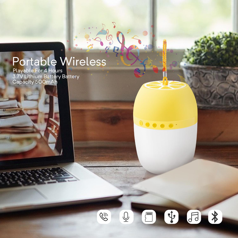 LED-TWS-Bluetooth-5-0-LED-Portable-Bluetooth-Speaker-Wireless-Bass-Speaker-W-TF miniature 26
