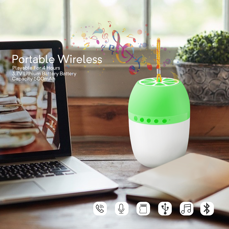 LED-TWS-Bluetooth-5-0-LED-Portable-Bluetooth-Speaker-Wireless-Bass-Speaker-W-TF miniature 36