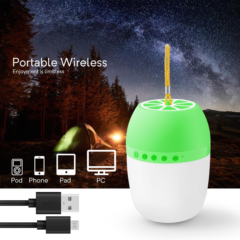 LED-TWS-Bluetooth-5-0-LED-Portable-Bluetooth-Speaker-Wireless-Bass-Speaker-W-TF miniature 37