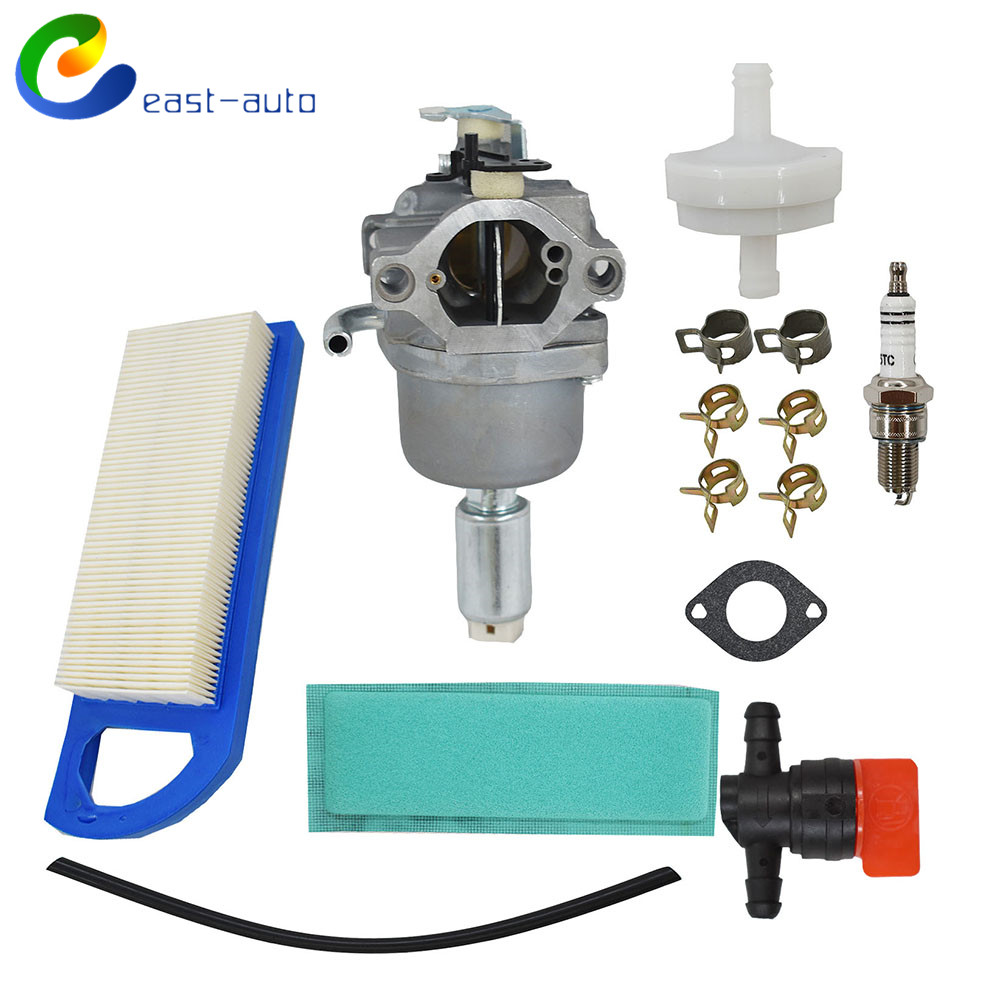 Briggs/&Stratton Carburetor Rebuild Kit /& Carburetor Fuel Solenoid /& Air Filter
