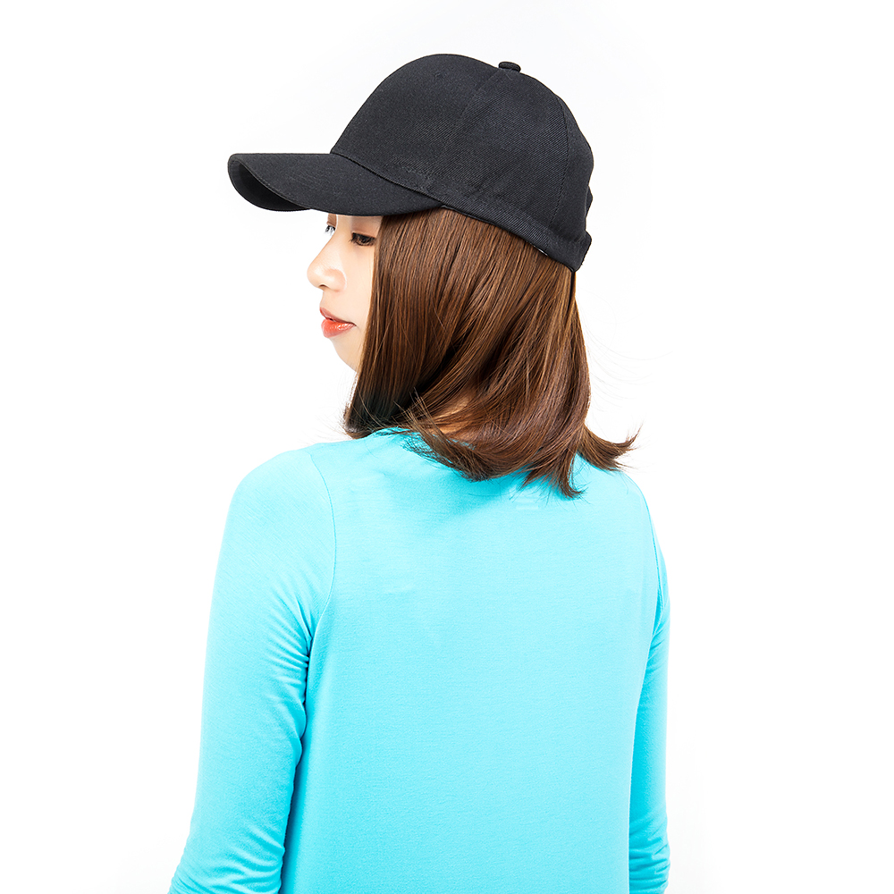 Short-Hair-Baseball-Cap-with-Wigs-Black-Hat-Synthetic-Full-Wigs-Short-Straight thumbnail 6