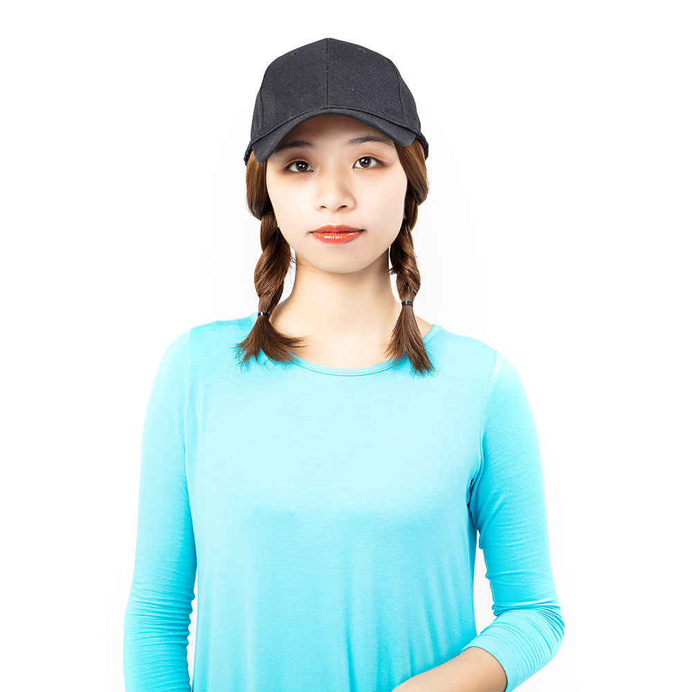 Short-Hair-Baseball-Cap-with-Wigs-Black-Hat-Synthetic-Full-Wigs-Short-Straight thumbnail 8