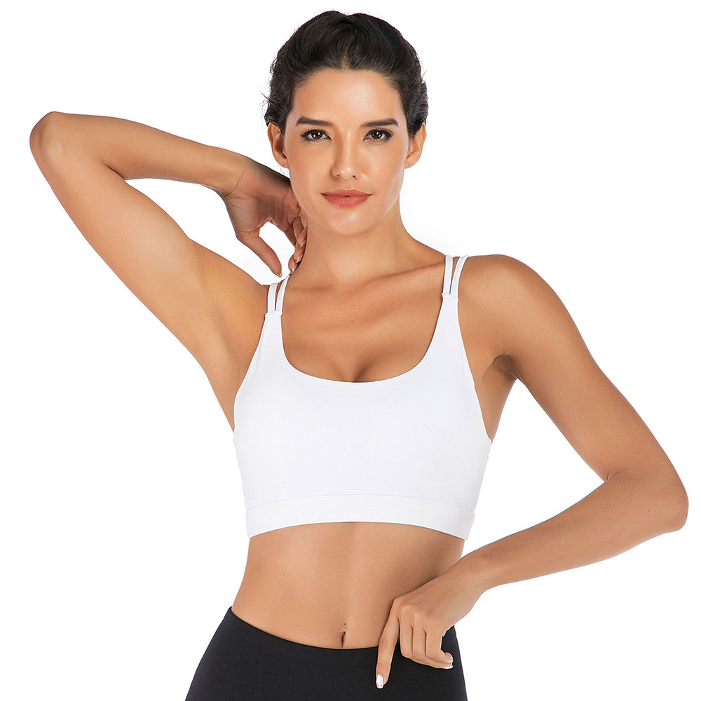 thumbnail 35 - New Womens Seamless Sports Bras High Impact Running Crop Tops Padded Yoga Bra US
