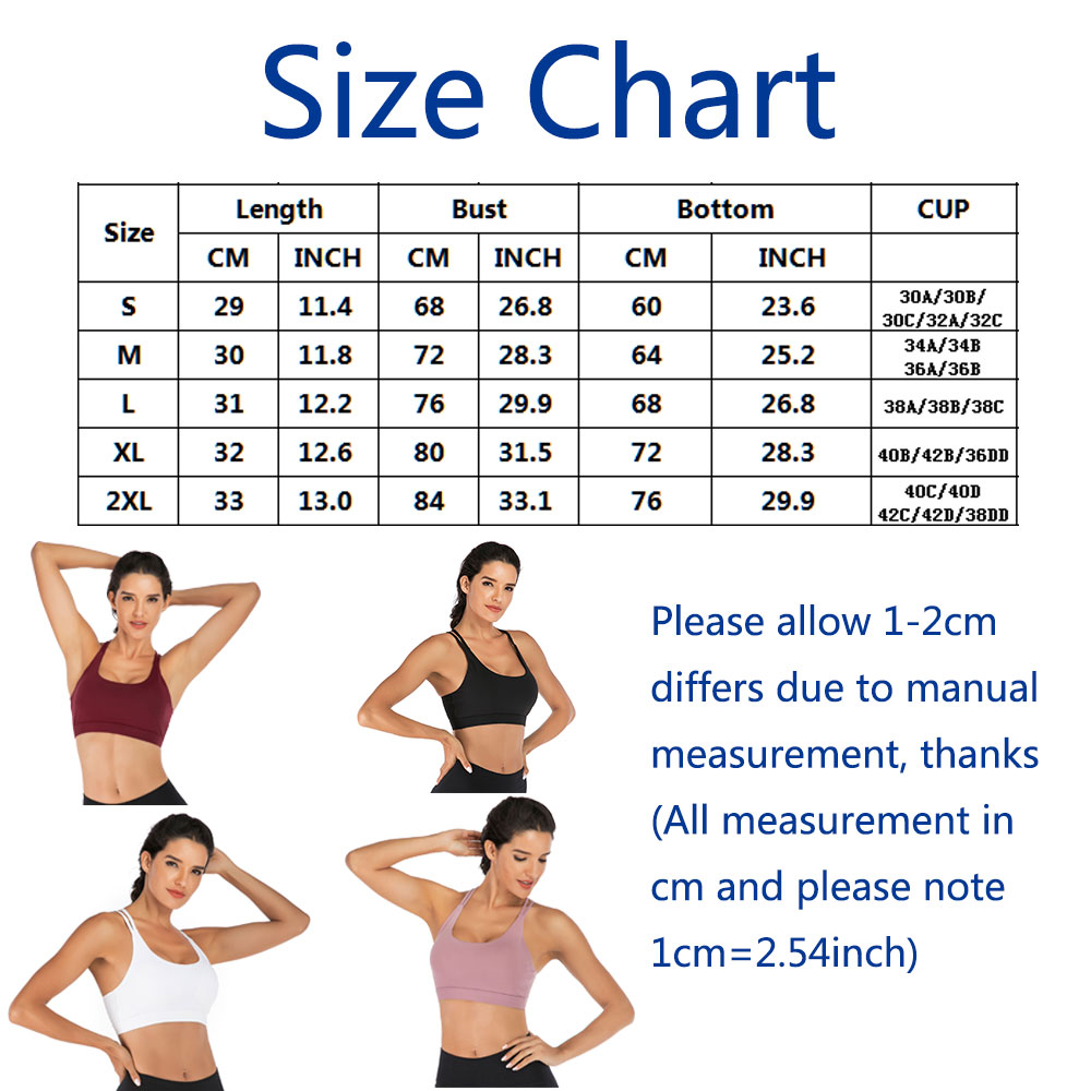 thumbnail 34 - New Womens Seamless Sports Bras High Impact Running Crop Tops Padded Yoga Bra US