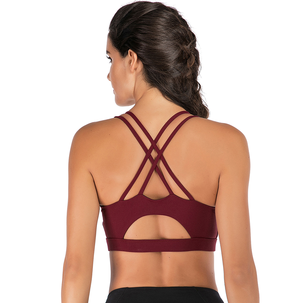 thumbnail 44 - New Womens Seamless Sports Bras High Impact Running Crop Tops Padded Yoga Bra US