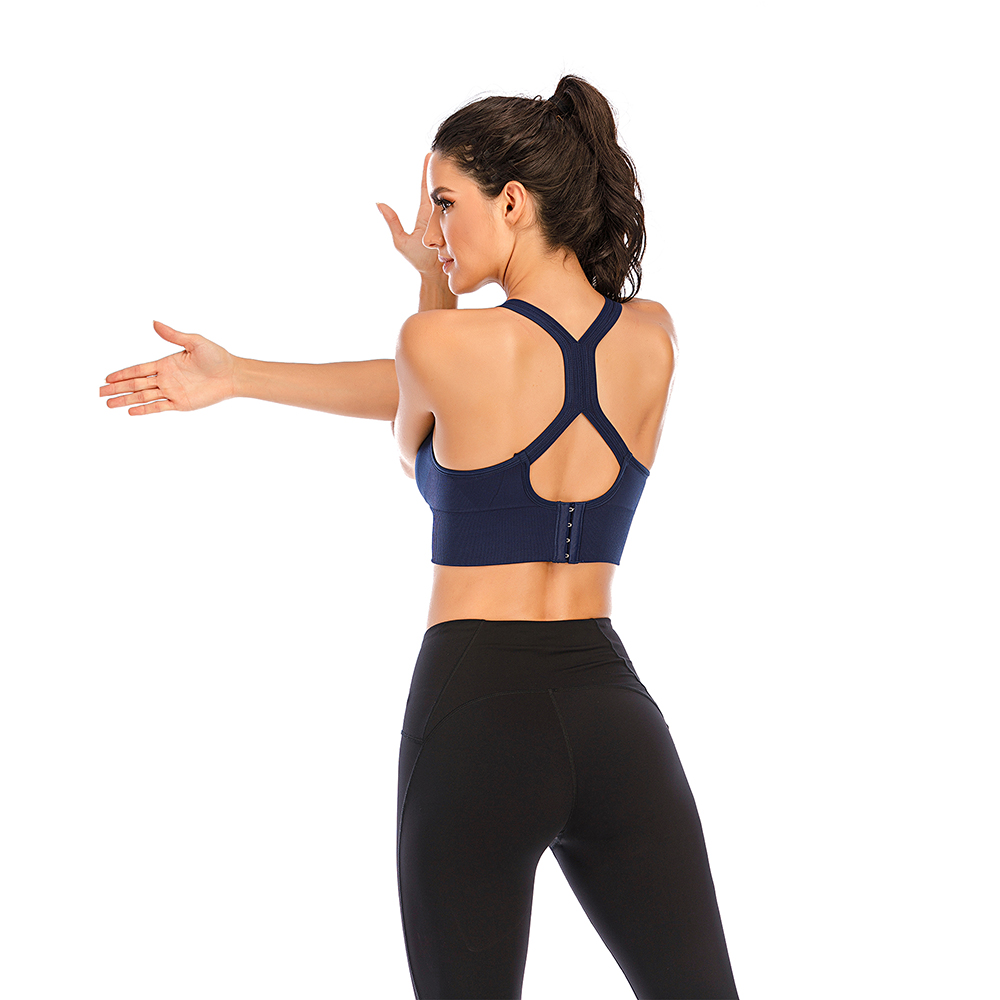 thumbnail 52 - New Womens Seamless Sports Bras High Impact Running Crop Tops Padded Yoga Bra US