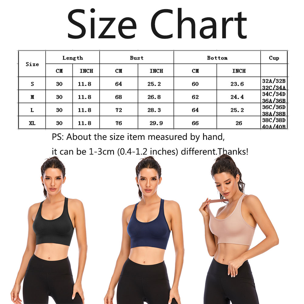 thumbnail 54 - New Womens Seamless Sports Bras High Impact Running Crop Tops Padded Yoga Bra US