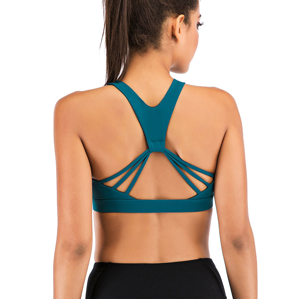 thumbnail 19 - New Womens Seamless Sports Bras High Impact Running Crop Tops Padded Yoga Bra US