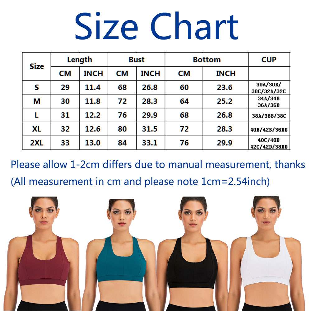 thumbnail 26 - New Womens Seamless Sports Bras High Impact Running Crop Tops Padded Yoga Bra US