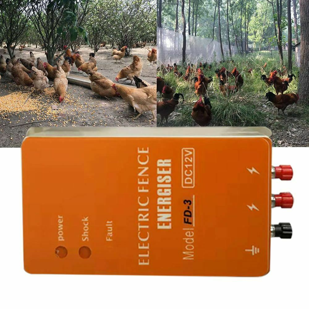DC12V-AC220V-Solar-Electric-Fence-Energizer-Charger-For-Poultry-Horse-Pig-Dog thumbnail 4