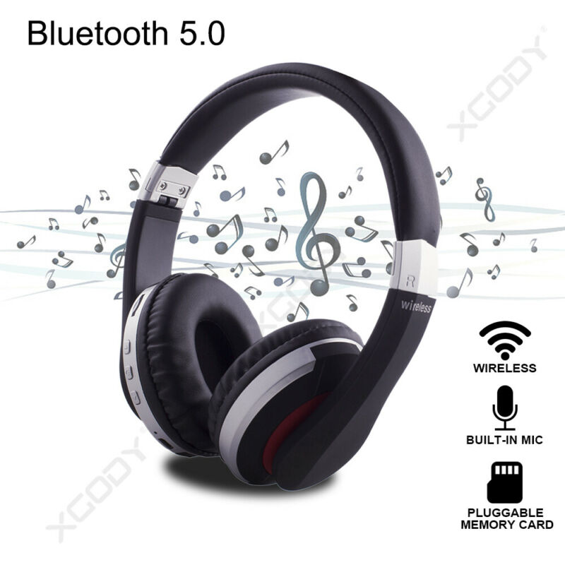 Wireless-Bluetooth-5-0-Headphone-Foldable-Stereo-Earphone-Super-Bass-Headset-Mic thumbnail 2