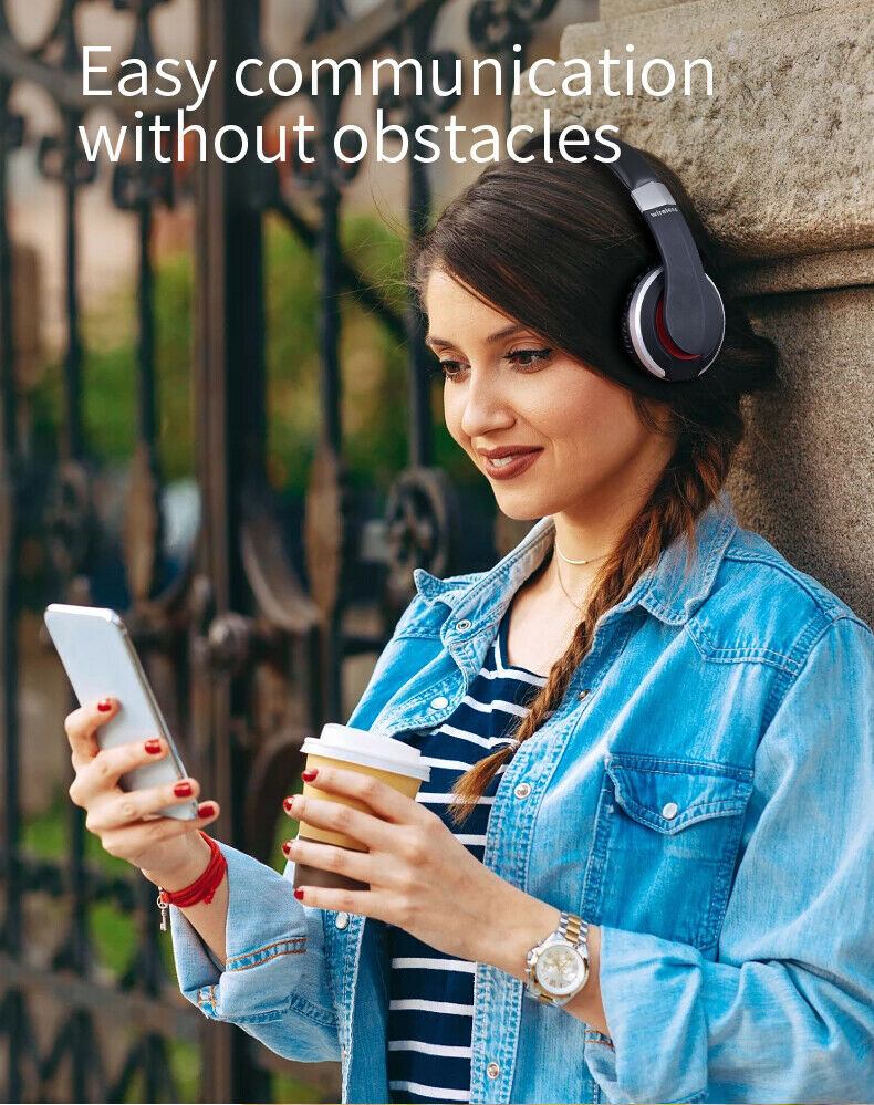 Wireless-Bluetooth-5-0-Headphone-Foldable-Stereo-Earphone-Super-Bass-Headset-Mic thumbnail 4