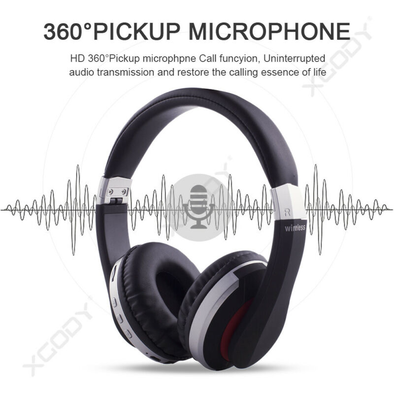 Wireless-Bluetooth-5-0-Headphone-Foldable-Stereo-Earphone-Super-Bass-Headset-Mic thumbnail 5