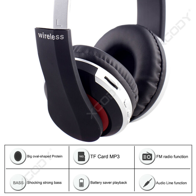 Wireless-Bluetooth-5-0-Headphone-Foldable-Stereo-Earphone-Super-Bass-Headset-Mic thumbnail 6
