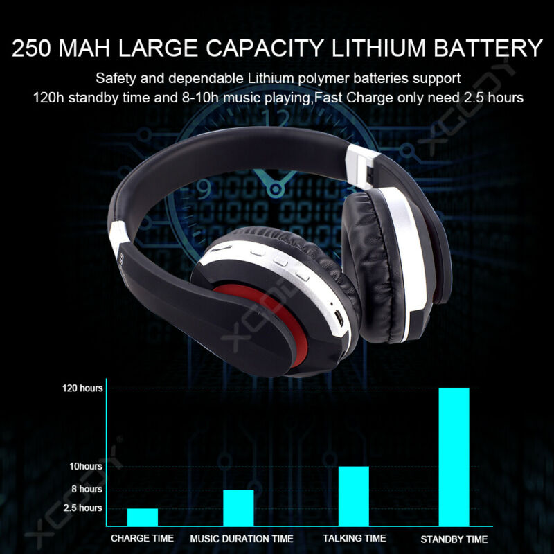 Wireless-Bluetooth-5-0-Headphone-Foldable-Stereo-Earphone-Super-Bass-Headset-Mic thumbnail 10