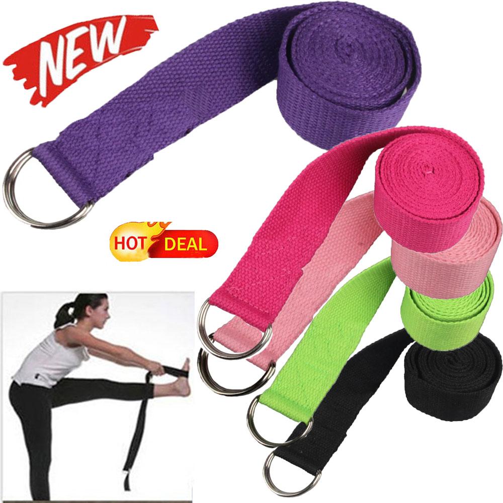 180CM Sport Yoga Stretch Strap Adjustable D-Ring Belt Gym Waist Leg Fitness Hot