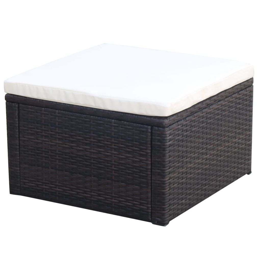 Amazing Details About Rattan Footstool Ottoman Bench Seat Chair Lounge Footstool W Removable Cushion Evergreenethics Interior Chair Design Evergreenethicsorg
