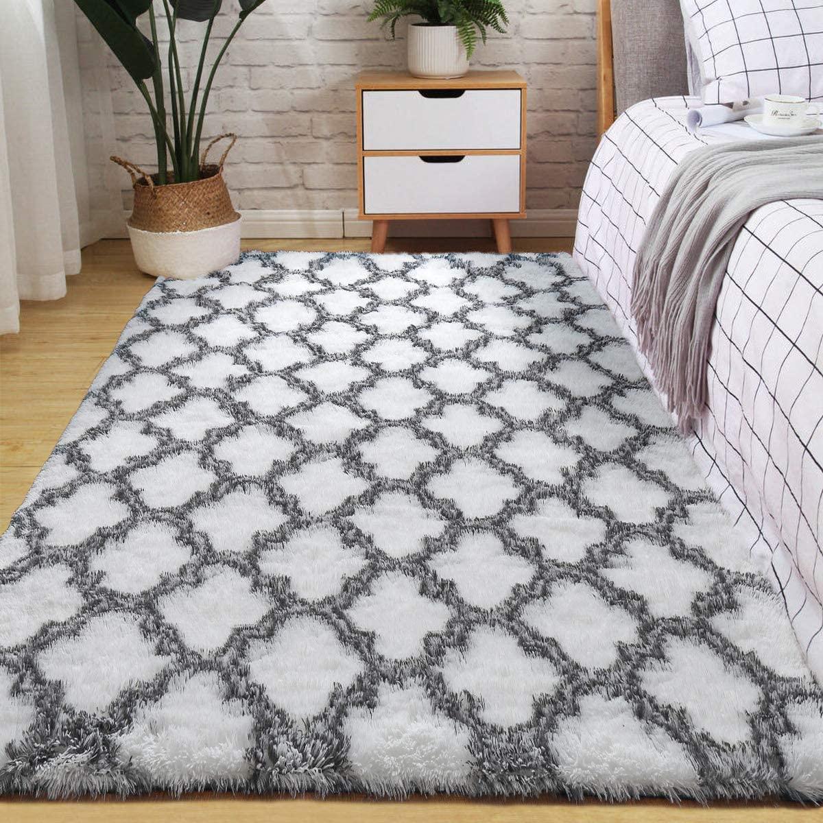 Velvet-Area-Rug-Soft-Fluffy-Carpets-for-Living-Room-Bedroom-Shaggy-Floor-Mat thumbnail 19