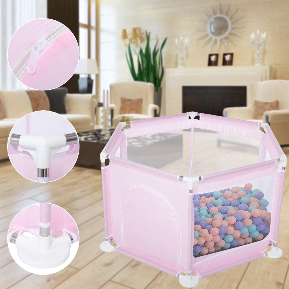 6 Sided Baby Playpen Playinghouse Interactive Kid Toddler Ro