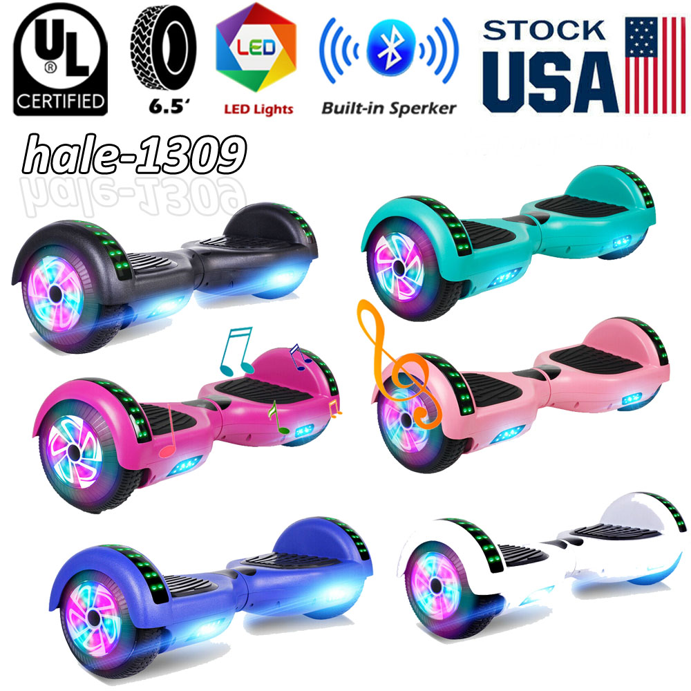 bluetooth hoverboard self balance scooter led skateboard