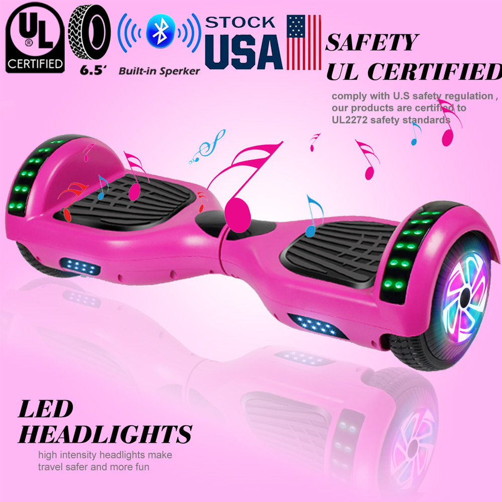 """6.5"""" Bluetooth Hoverboard Self Balancing Scooter LED No Bag Purple US"""
