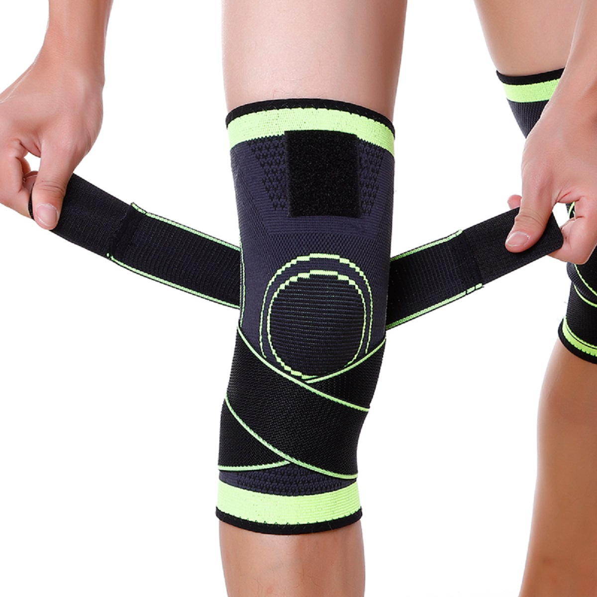 USA-3D-Weaving-Knee-Brace-Breathable-Sleeve-Support-for-Running-Jogging-Sports miniature 16