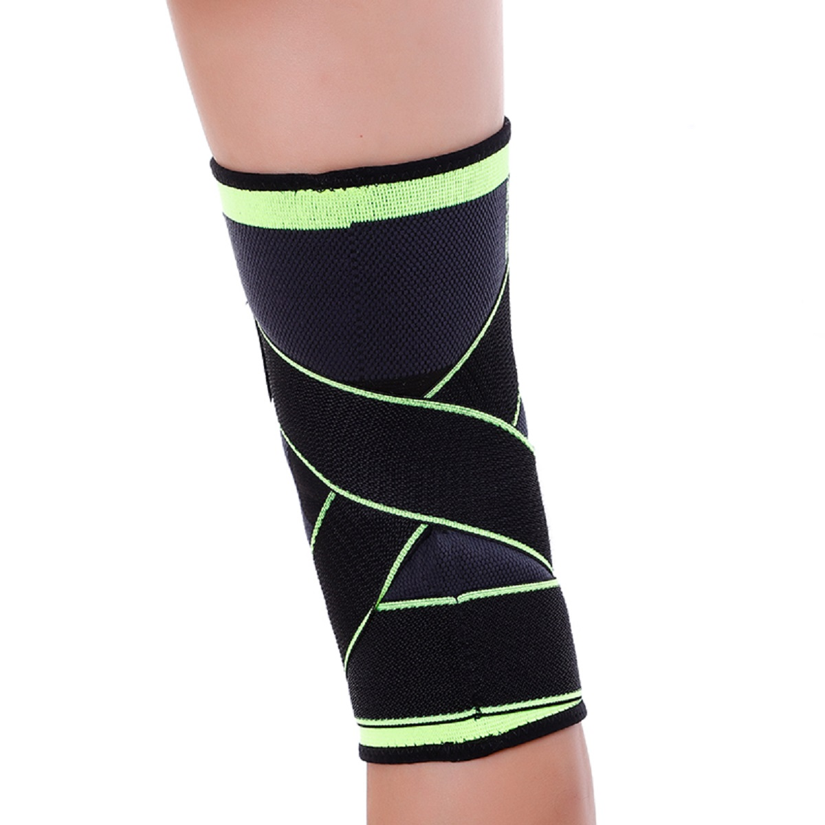 USA-3D-Weaving-Knee-Brace-Breathable-Sleeve-Support-for-Running-Jogging-Sports miniature 17