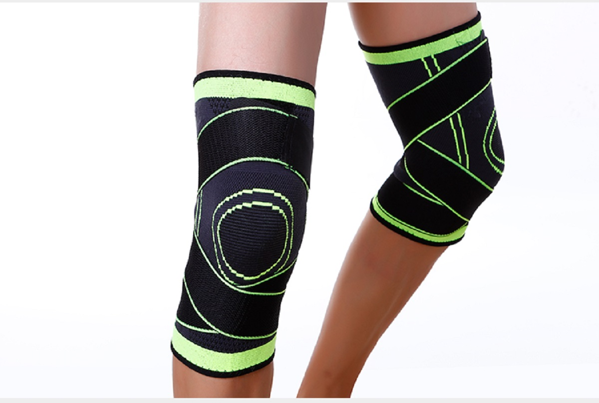 USA-3D-Weaving-Knee-Brace-Breathable-Sleeve-Support-for-Running-Jogging-Sports miniature 18