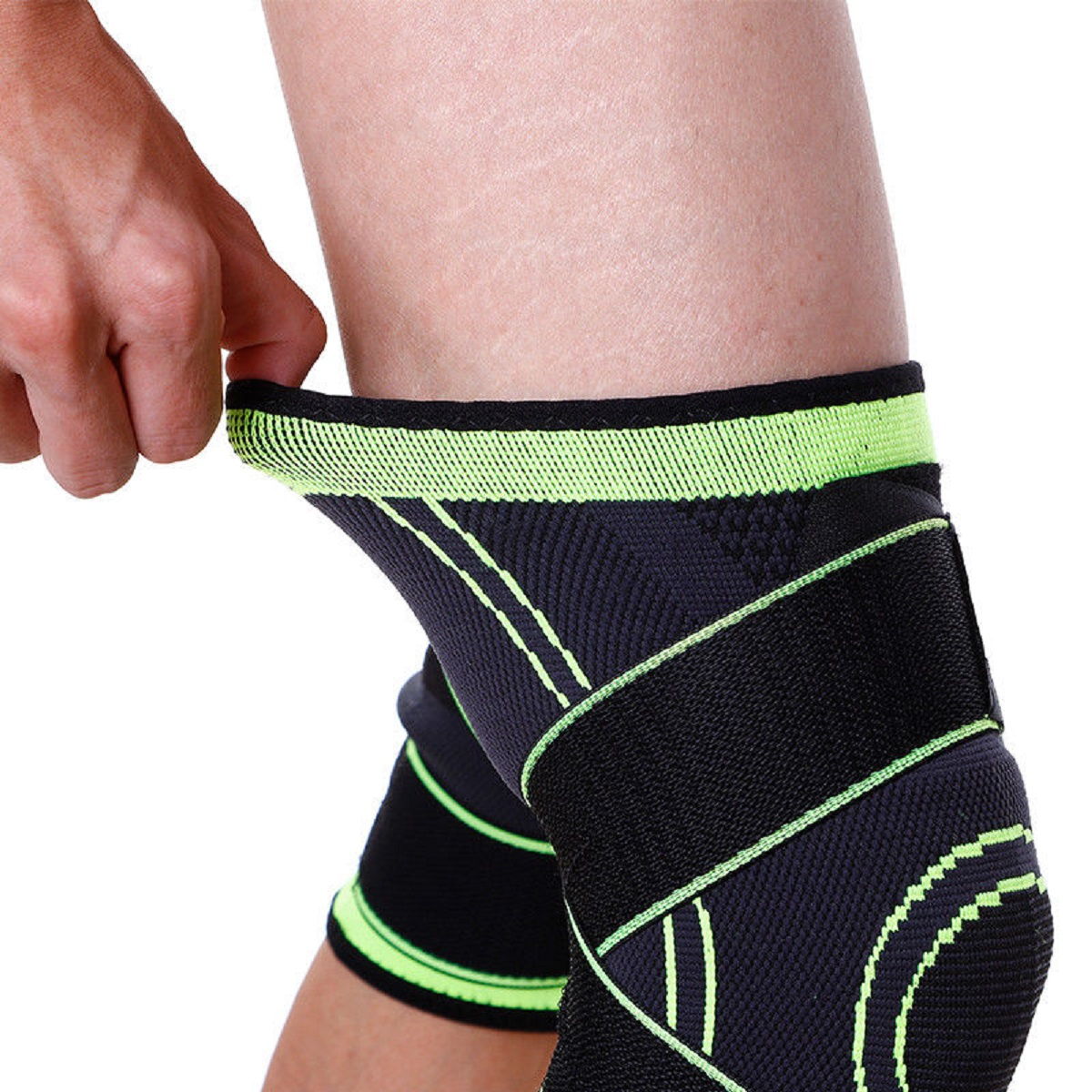 USA-3D-Weaving-Knee-Brace-Breathable-Sleeve-Support-for-Running-Jogging-Sports miniature 19