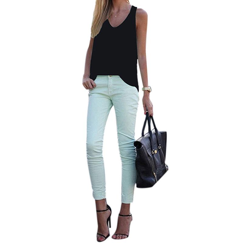 Women-V-Neck-Chiffon-Sleeveless-Vest-Blouse-Casual-Tank-Loose-Summer-Tops-Shirt thumbnail 17