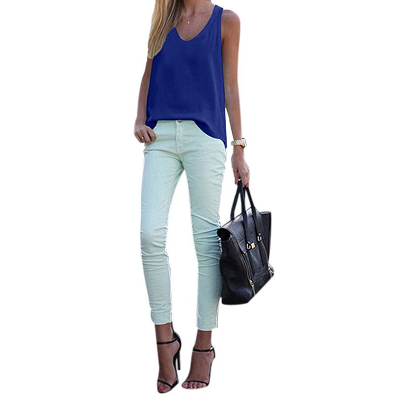 Women-V-Neck-Chiffon-Sleeveless-Vest-Blouse-Casual-Tank-Loose-Summer-Tops-Shirt thumbnail 23