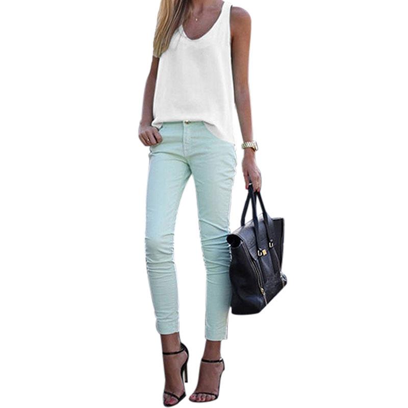 Women-V-Neck-Chiffon-Sleeveless-Vest-Blouse-Casual-Tank-Loose-Summer-Tops-Shirt thumbnail 14